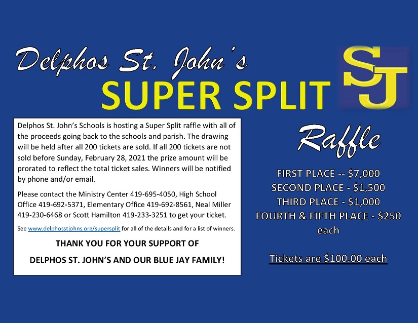 Super Split Raffle Flyer