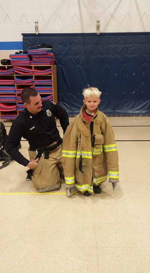 Delphos Firefighter visit