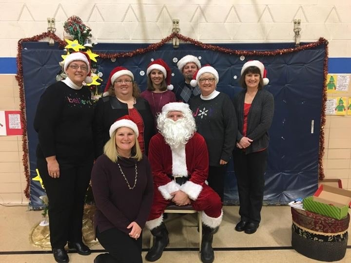 Staff at Christmas Open House