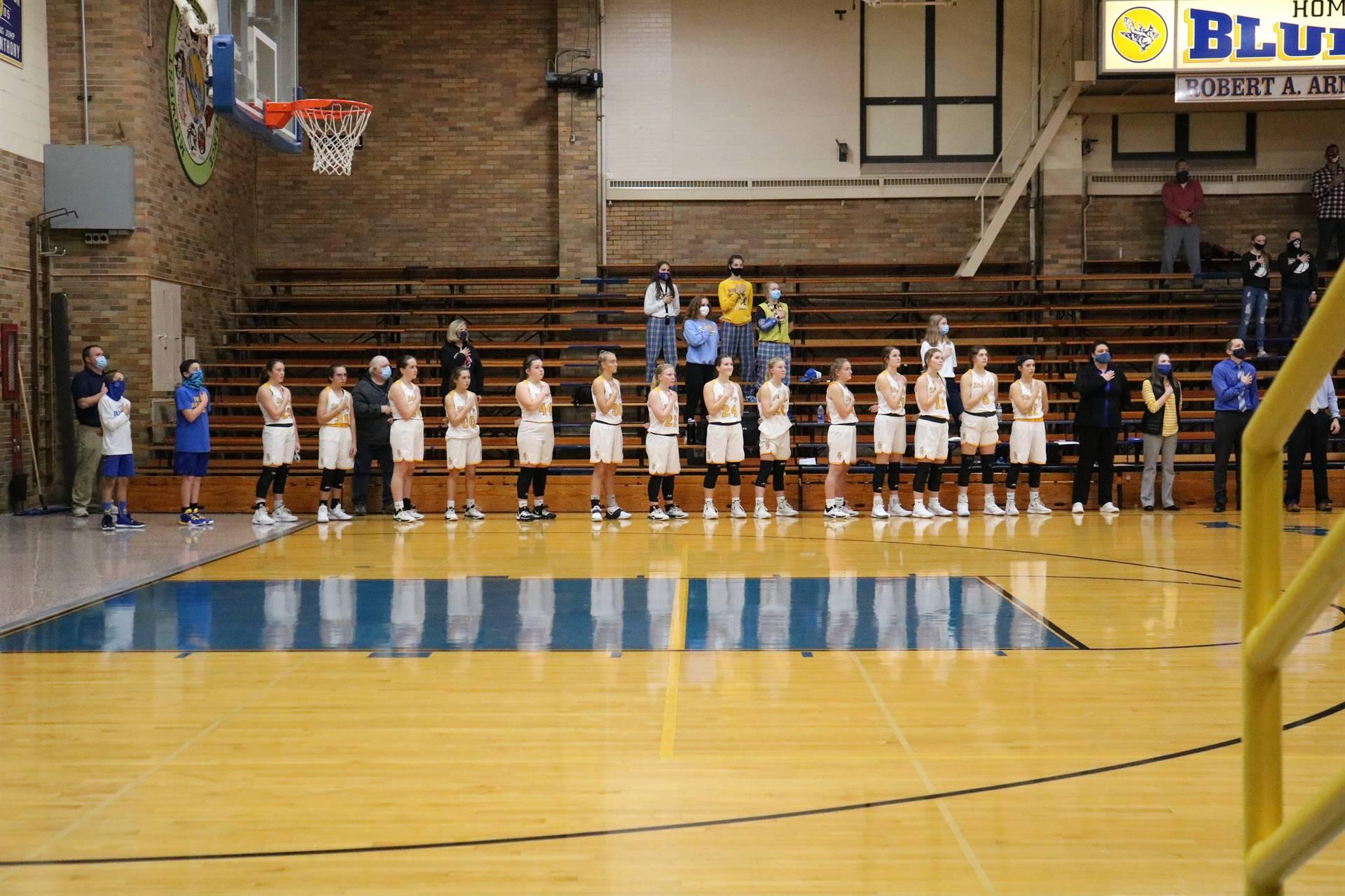 Varsity Girls Basketball National Anthem