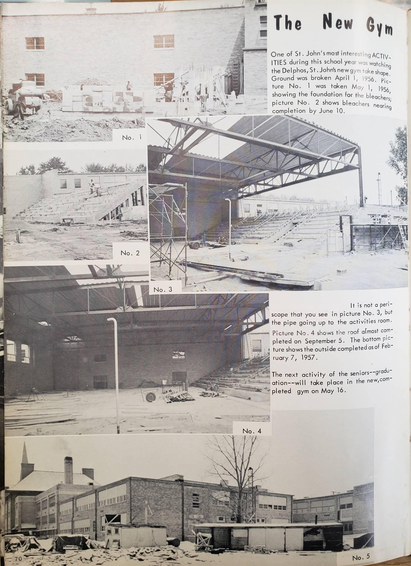 Construction of the Robert A. Arnzen Gymnasium