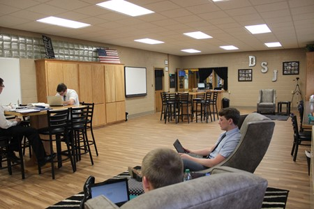 HS students studying in the Media Center