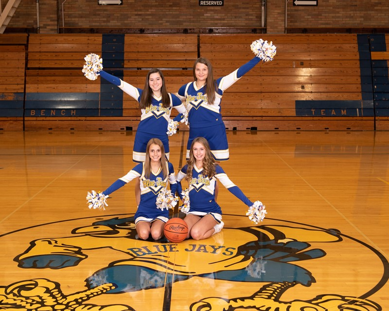 Junior Varsity Basketball Cheerleaders 2019-2020